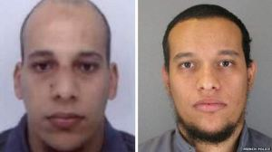 DEAD MEN WALKING: French Police released photos of the brothers Cherif Kouachi, 32, and Said Kouachi, 34.