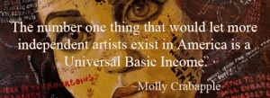 Molly Crabapple Basic Income Banner