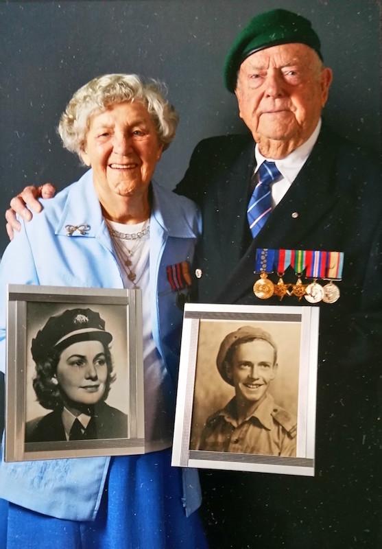 Beryl & James Burrowes 1942 & 2016
