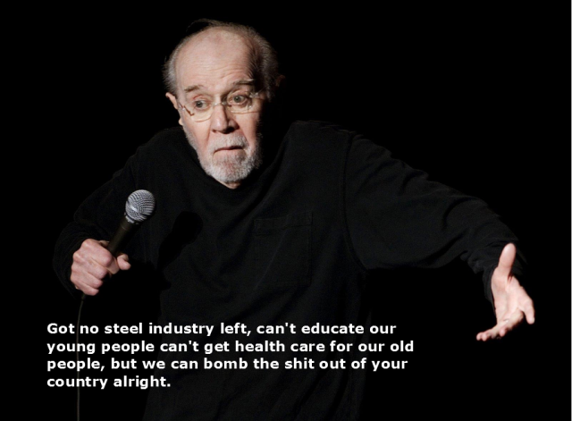 George Carlin On War Transcript